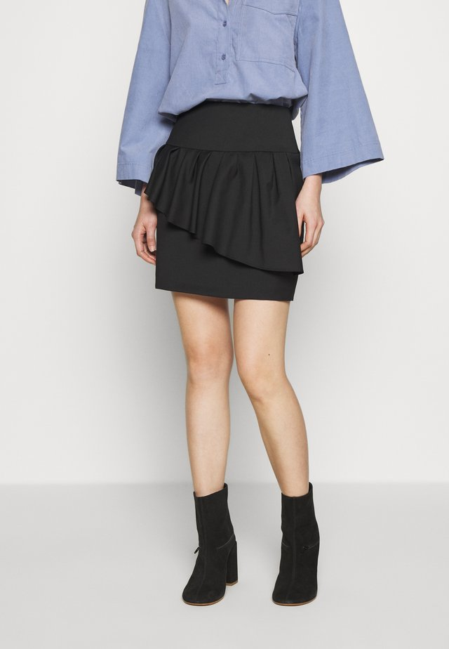 JUPE - Mini skirt - black