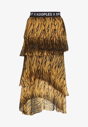 JUPE - Áčková sukně - brown