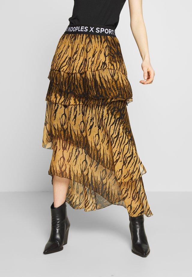 JUPE - Spódnica trapezowa - brown