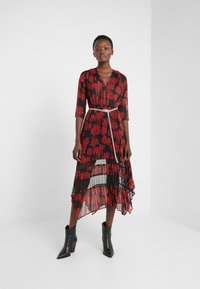 The Kooples - ROBE LONGUE - Day dress - red/black - 1