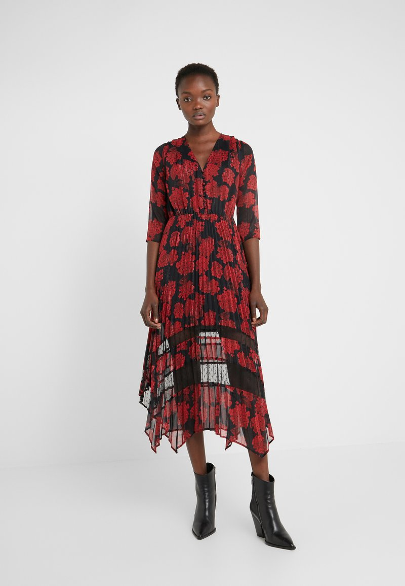 The Kooples - ROBE LONGUE - Day dress - red/black