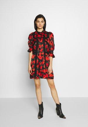 ROBE - Day dress - black/red