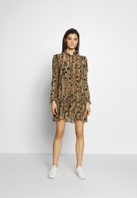 The Kooples - ROBE - Day dress - black/beige - 0