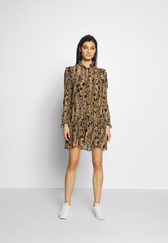ROBE - Denní šaty - black/beige