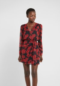 The Kooples - ROBE COURTE - Cocktail dress / Party dress - red/black - 0