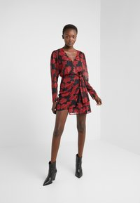 The Kooples - ROBE COURTE - Cocktail dress / Party dress - red/black - 1
