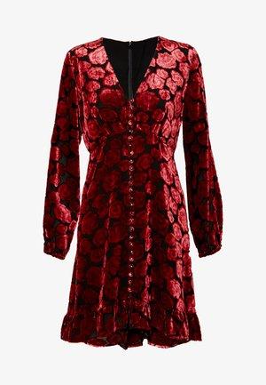 ROBE - Denní šaty - black/red