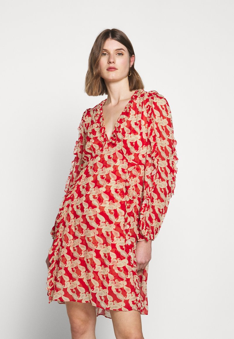 The Kooples - ROBE - Day dress - red