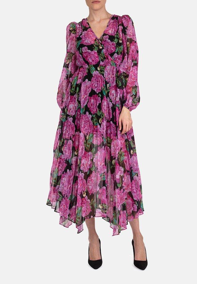 Robe d'été - black / pink