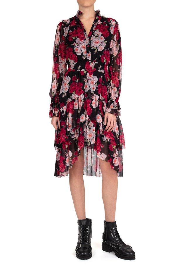 Shirt dress - black / pink