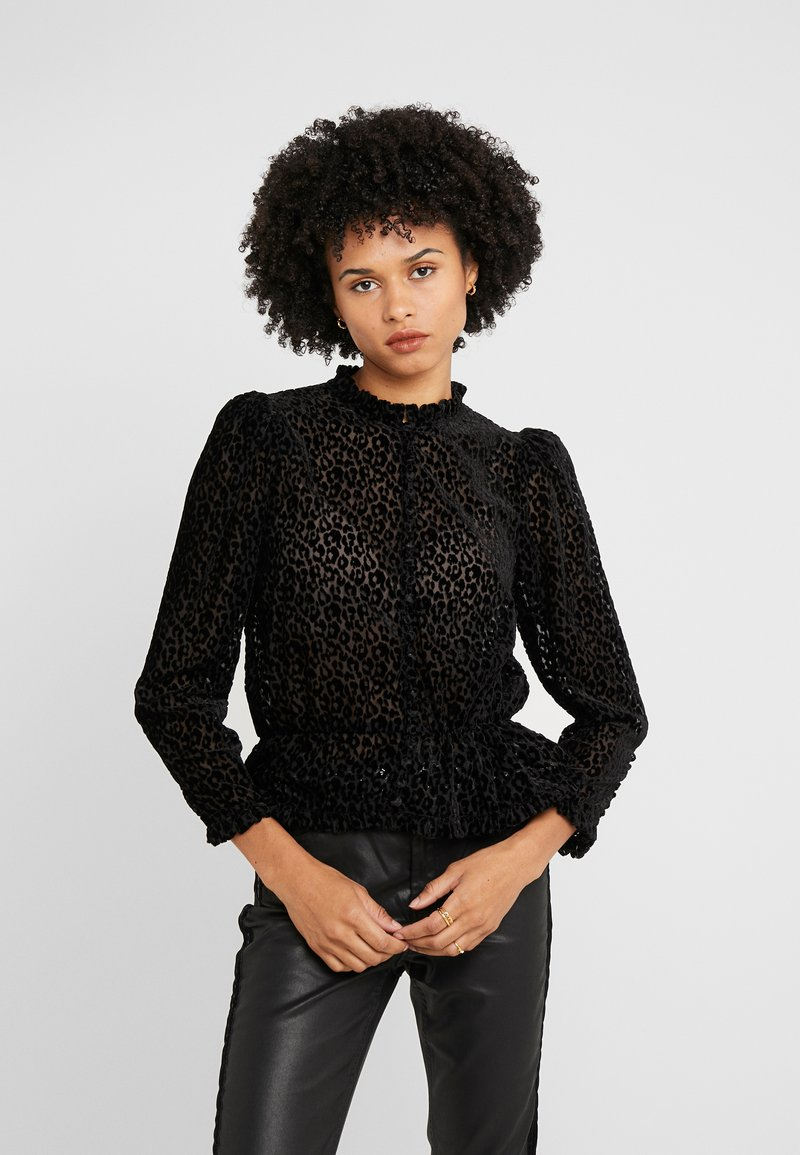 The Kooples - CHEMISE - Button-down blouse - black
