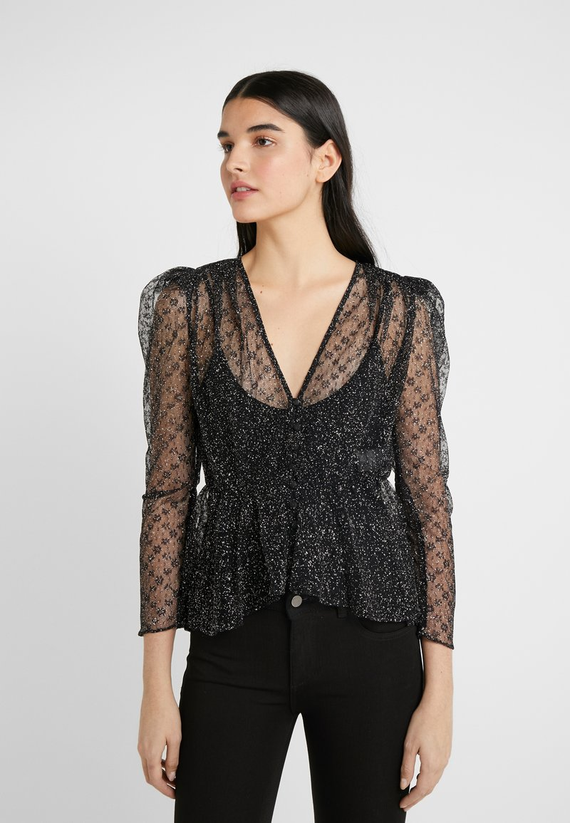 The Kooples - Blouse - black/silver