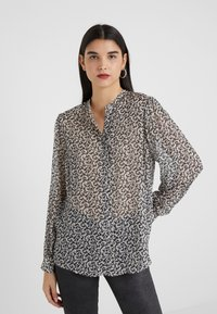 The Kooples - CHEMISE - Blouse - black/off-white - 0