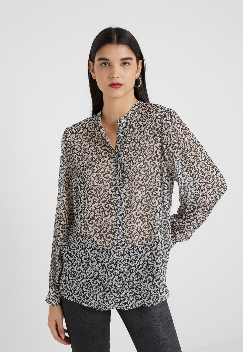 The Kooples - CHEMISE - Blouse - black/off-white