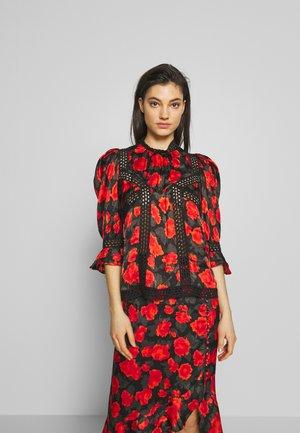 Bluse - black/red