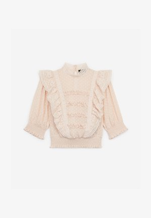 FRILLY - Blouse - nude