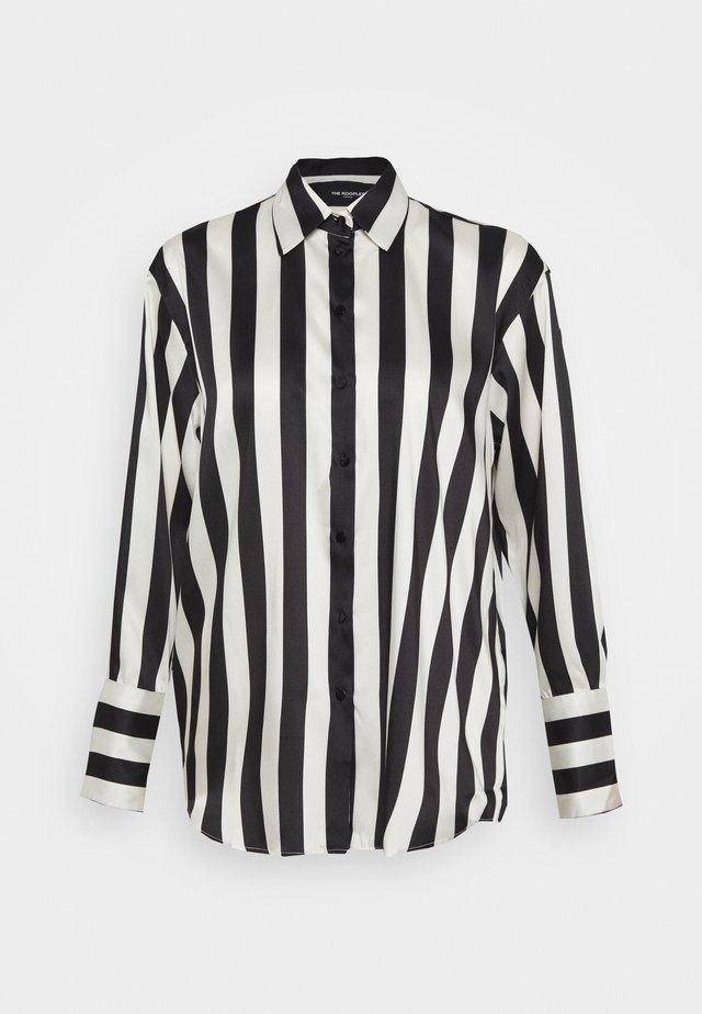 Hemdbluse - black/white