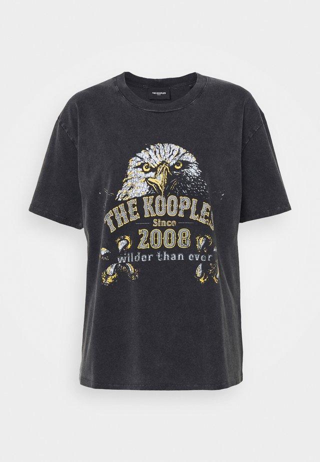 T-shirt imprimé - black washed
