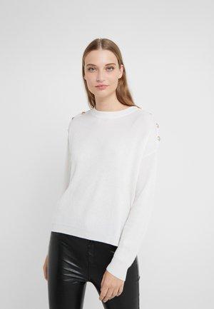 PULL - Stickad tröja - white