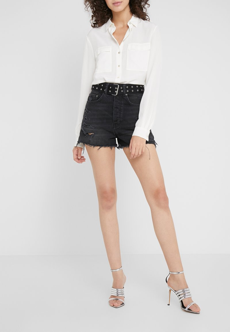 The Kooples - Denim shorts - black washed