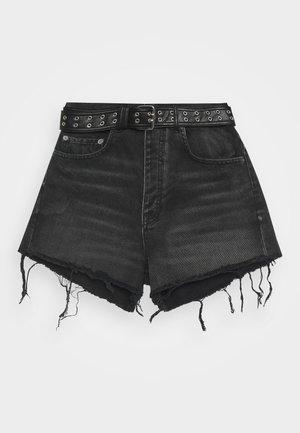 Džínové kraťasy - black