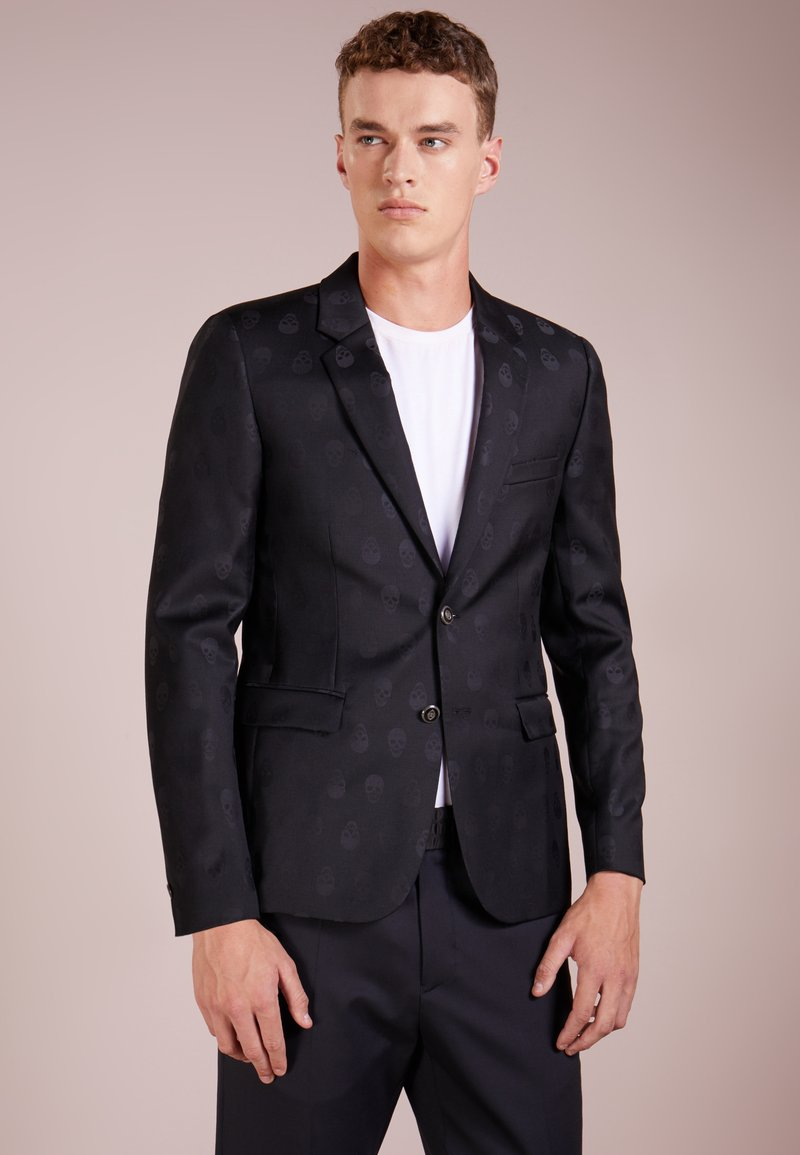 The Kooples - SKULLED JACQUARD - Blazer jacket - black