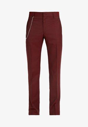 PANTALON COSTUM - Pantaloni eleganti - burgundy