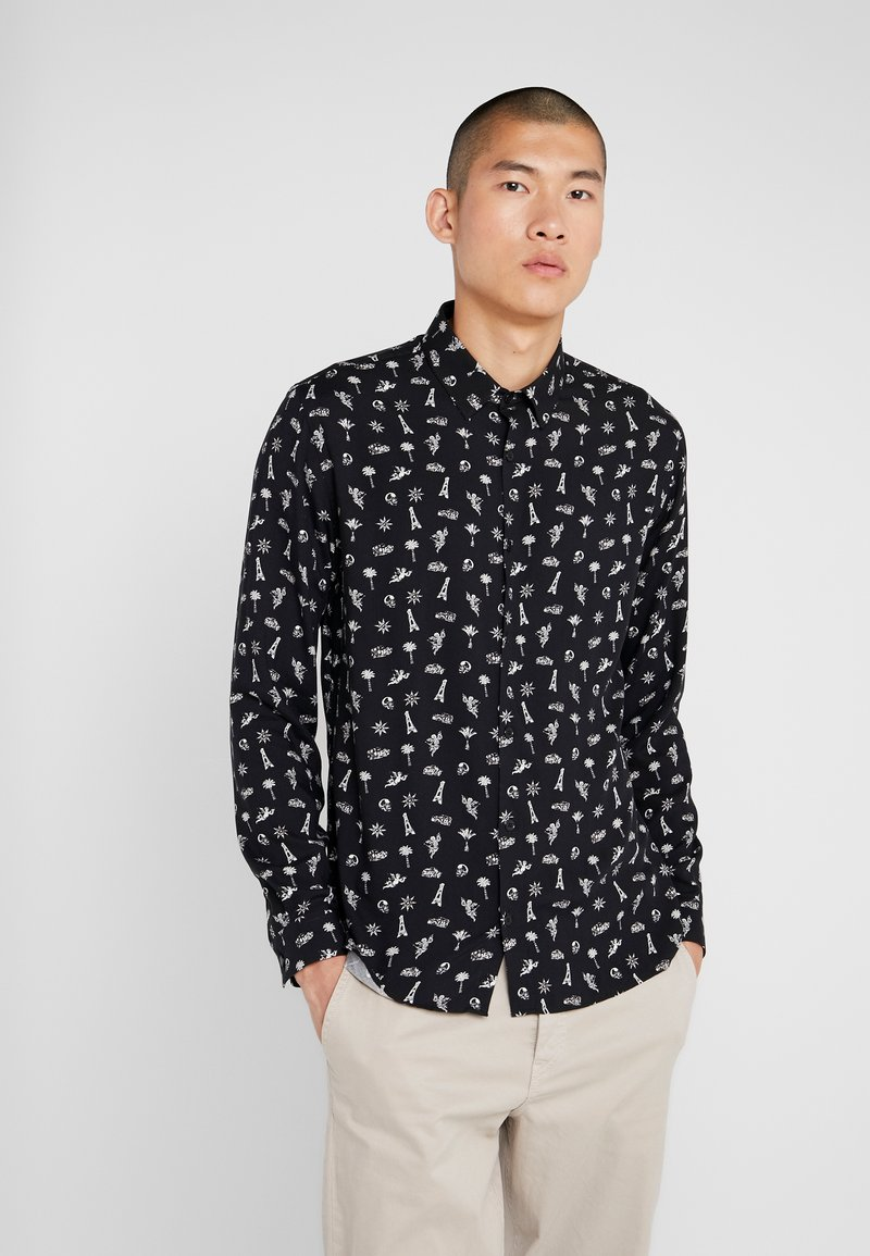 The Kooples - CHEMISE RELAXED FIT - Shirt - black/ecru