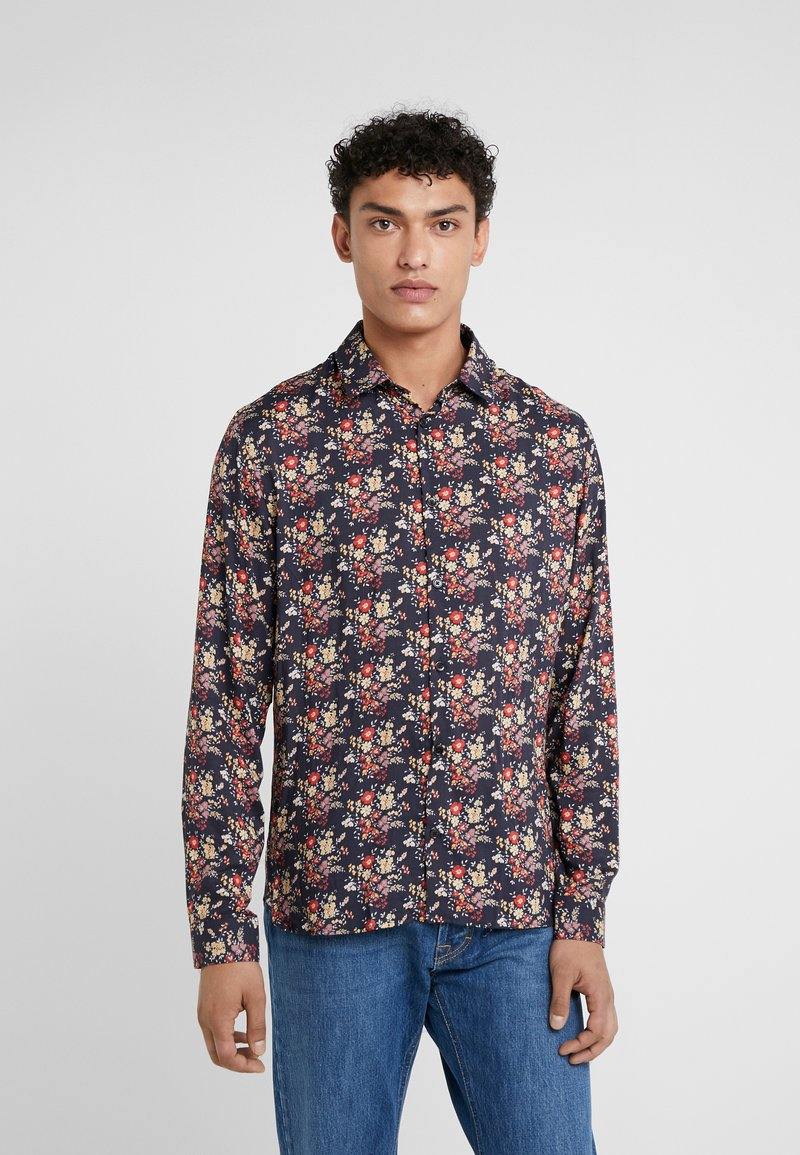 The Kooples - CHEMISE - Shirt - black/red/yellow