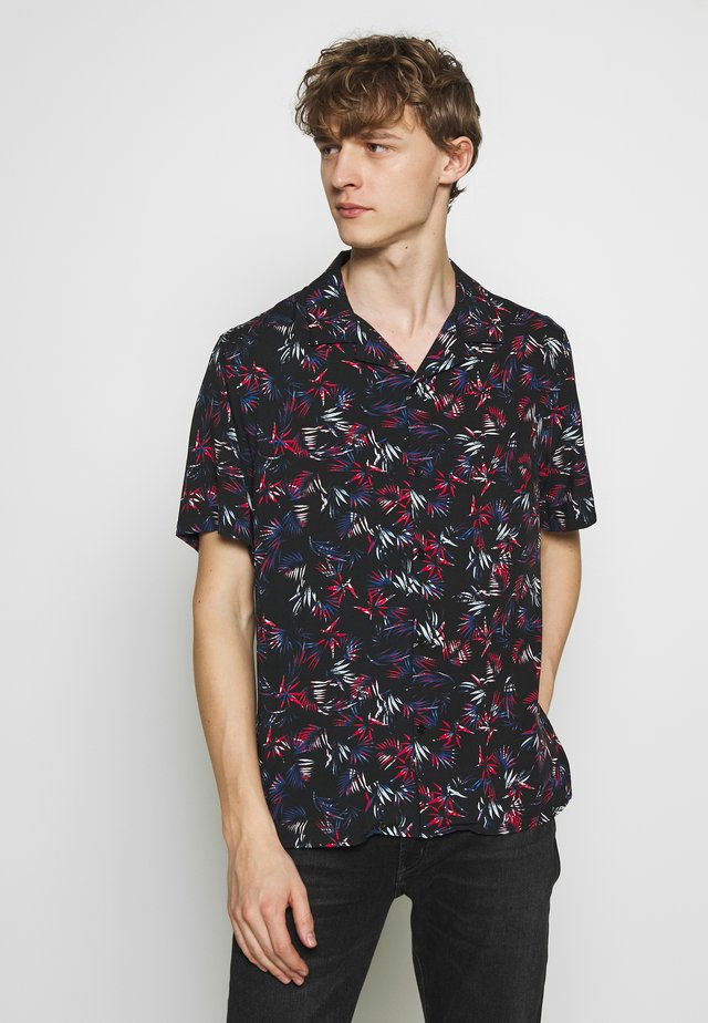 LEAVES CHEMISE - Shirt - black/red