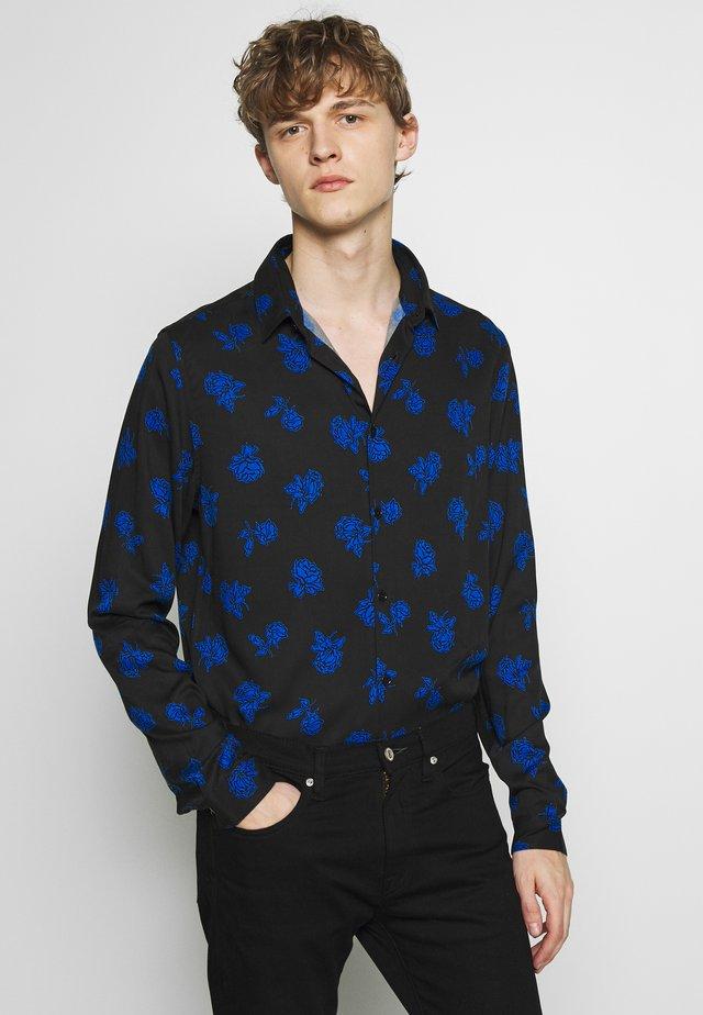 VINTAGE ROSES CHEMISE - Shirt - black/blue
