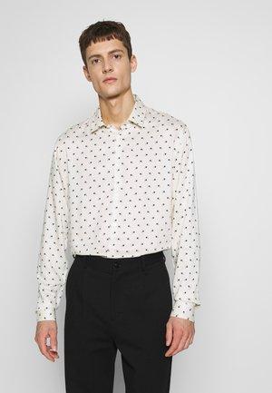 MODERNIST SYMBOLS CHEMISE - Camisa - white/black