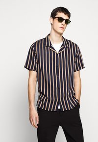 The Kooples - CHEMISE STRIPED - Skjorter - dark navy/camel - 0