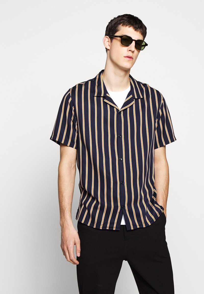 The Kooples - CHEMISE STRIPED - Skjorter - dark navy/camel