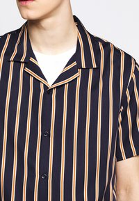 The Kooples - CHEMISE STRIPED - Skjorter - dark navy/camel - 5