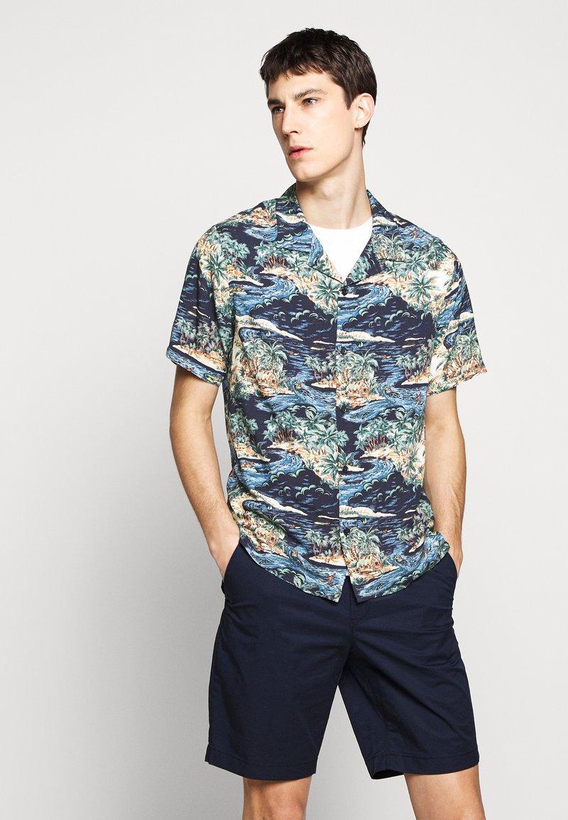 The Kooples - CHEMISE TROPICAL PRINT - Shirt - navy/blue