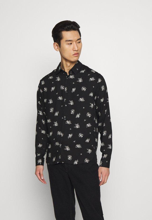 CHEMISE FLORAL - Shirt - black