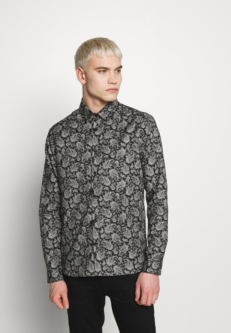 The Kooples - CHEMISE BANDANA - Shirt - black