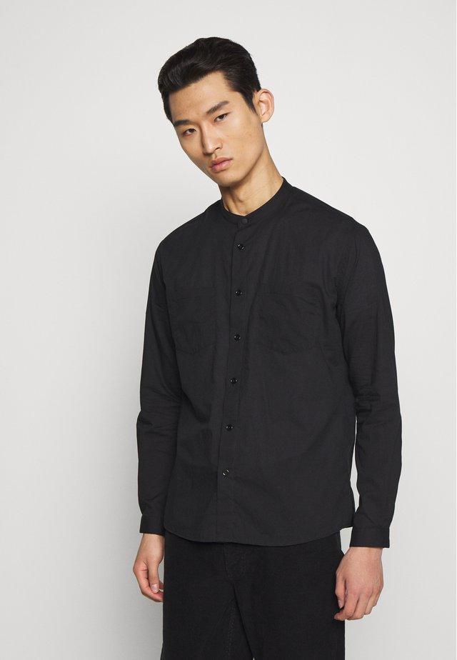 CHEMISE MAO COLLAR - Shirt - black