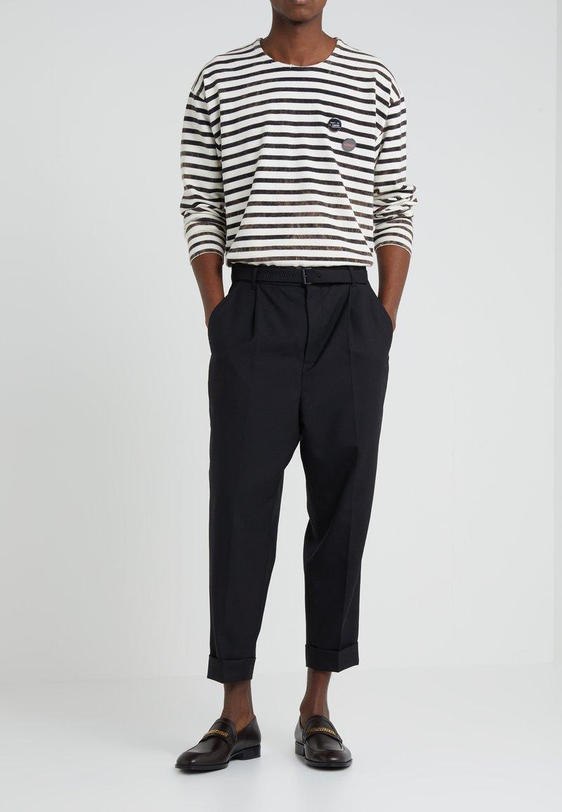 The Kooples - WOOLEN PLEAT TROUSER - Trousers - black