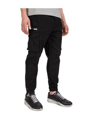 Pantalon cargo - black