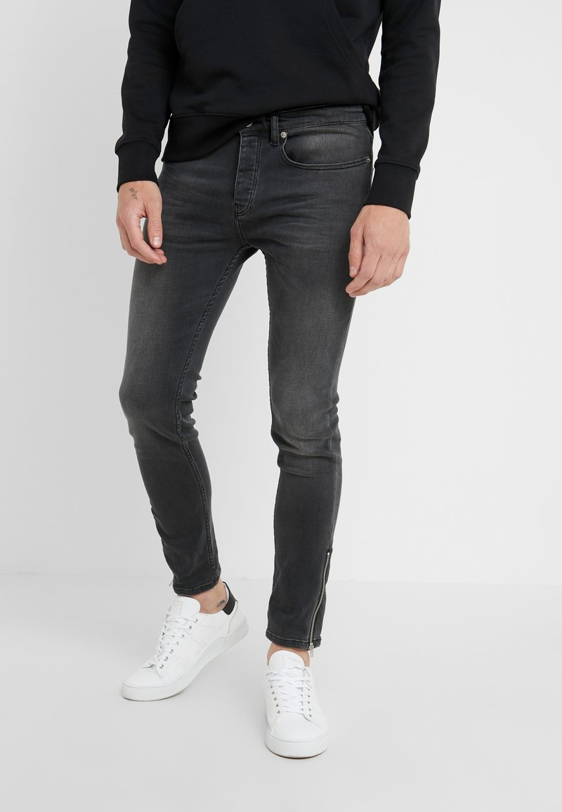 The Kooples - JEAN - Jeans slim fit - grey denim