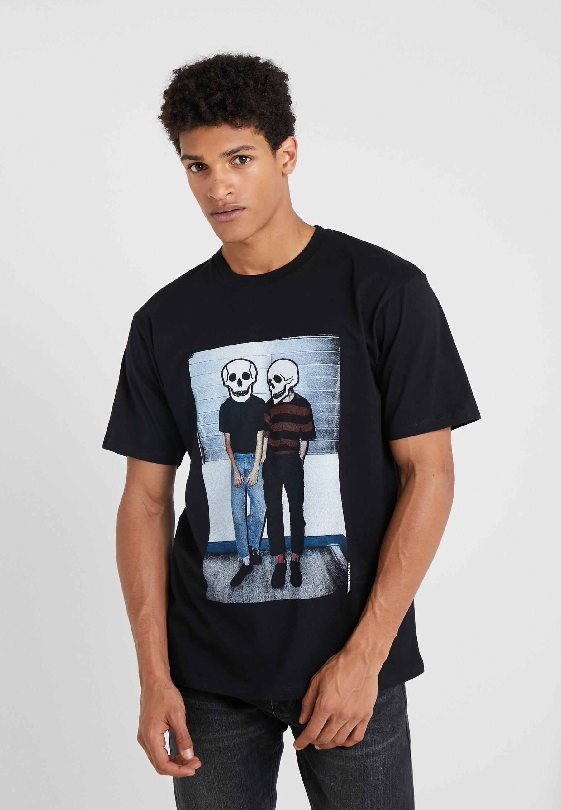 ImpriméBlack The shirt T Kooples Kooples The UVqMSpz