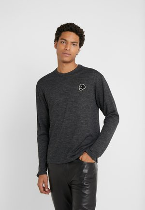 Stickad tröja - dark grey melange