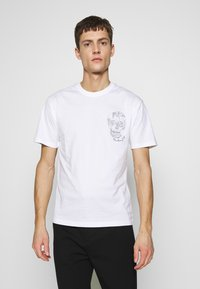 The Kooples - SKULL EMBROIDERY  - T-Shirt print - white - 0