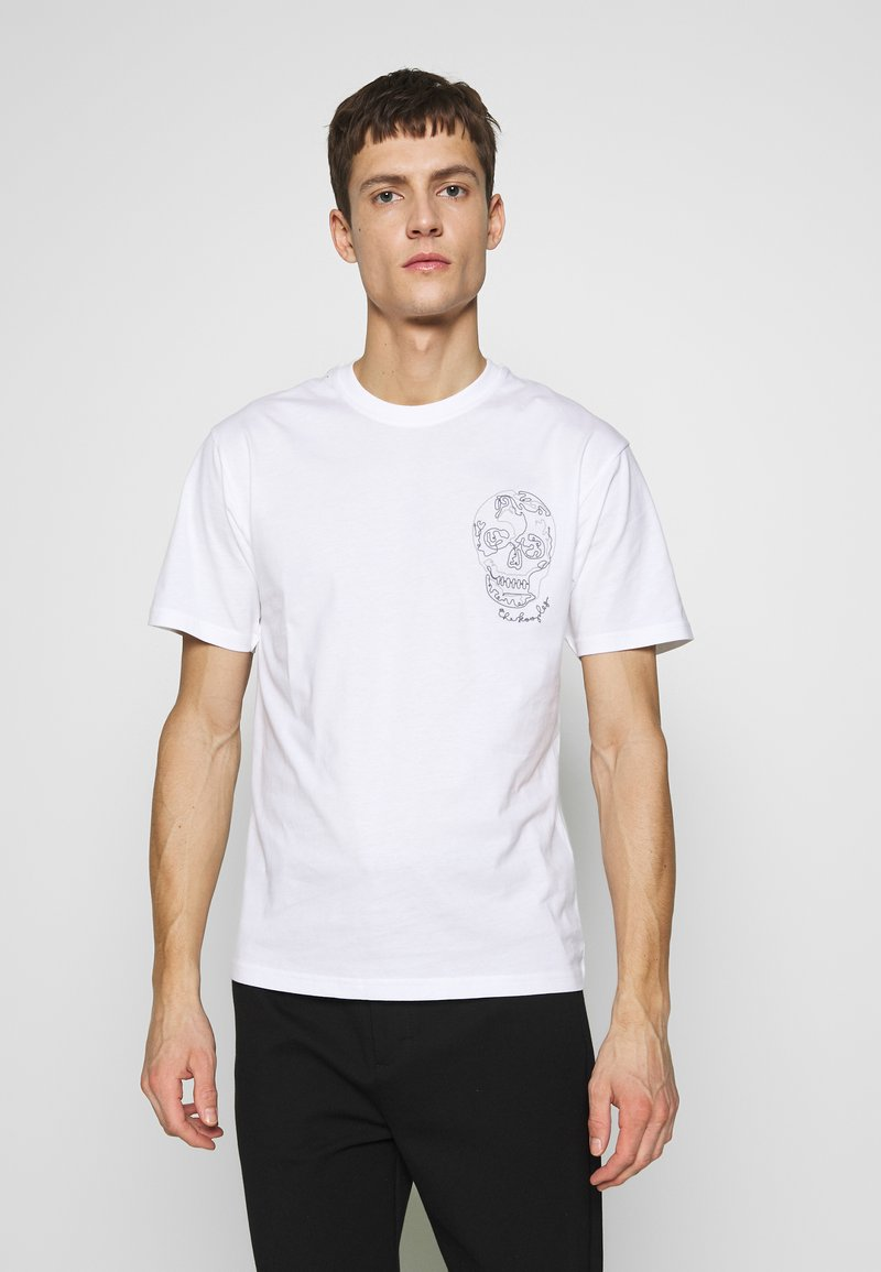 The Kooples - SKULL EMBROIDERY  - T-Shirt print - white