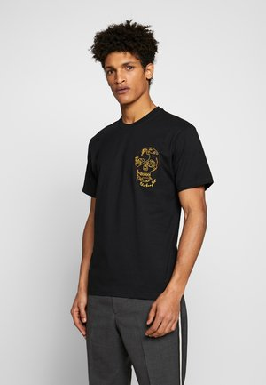 SKULL EMBROIDERY  - T-shirt con stampa - black