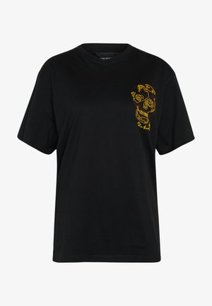 SKULL EMBROIDERY  - T-shirt print - black