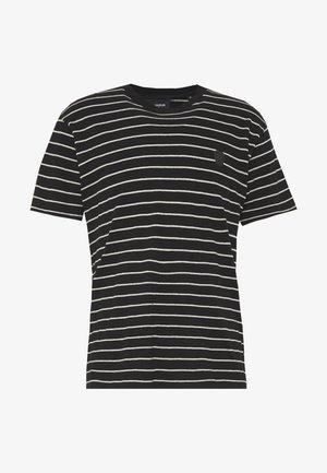 STRIPED - T-shirt print - black/ecru