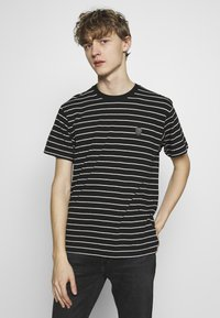 The Kooples - STRIPED - T-shirt imprimé - black/ecru - 0